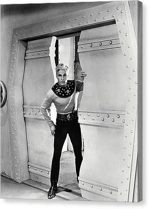 Buster Canvas Print - Buster Crabbe In Flash Gordon  by Silver Screen