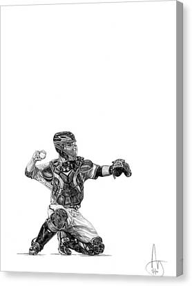 Buster Posey Canvas Print by Joshua Sooter