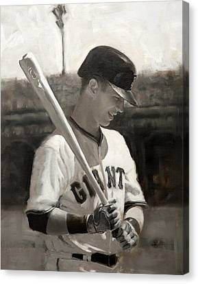 Buster Posey - Quiet Leader Canvas Print by Darren Kerr