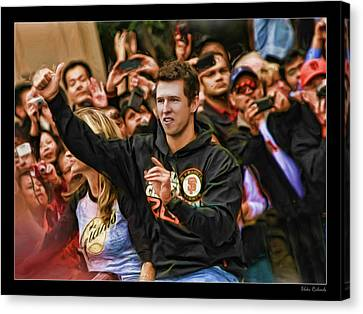 Buster Posey World Series 2012 Canvas Print by Blake Richards