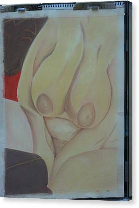 Busty Canvas Print by Dro Hall
