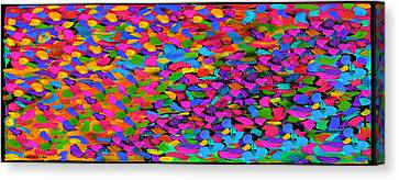 Busy Busy Busy Horizontal Canvas Print by Dale Moses