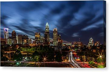 Busy Charlotte Night Canvas Print by Chris Austin