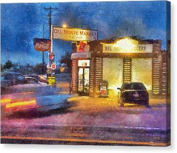 Grocery Store Canvas Print - Busy Night At Del Monte Market by Rick Lloyd