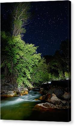 Canvas Print featuring the photograph Busy Night by David Andersen