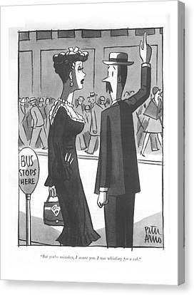 But You're Mistaken Canvas Print by Peter Arno