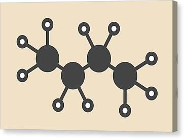 Butane Hydrocarbon Molecule Canvas Print by Molekuul