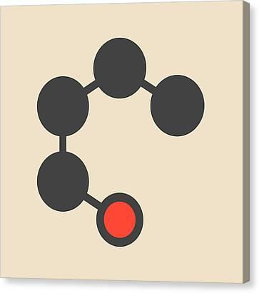 Butanol Molecule Canvas Print by Molekuul