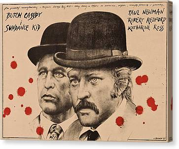 Butch Cassidy And The Sundance Kid Canvas Print by Movie Poster Prints