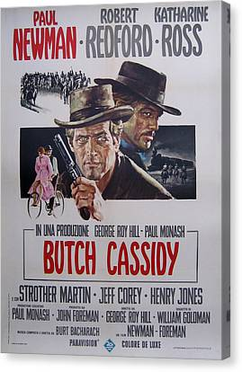 Butch Cassidy And The Sundance Kid Canvas Print by Georgia Fowler