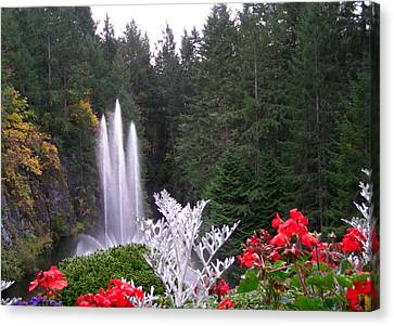 Butchart Gardens Fountain Canvas Print