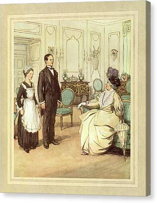 Butler And Maid Canvas Print by British Library