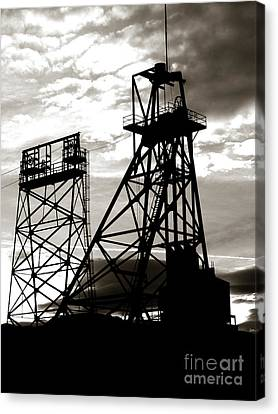 Butte Montana Headframe Canvas Print by David Bearden