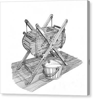 Butter Churn Circa 1822 Canvas Print by Jack Pumphrey