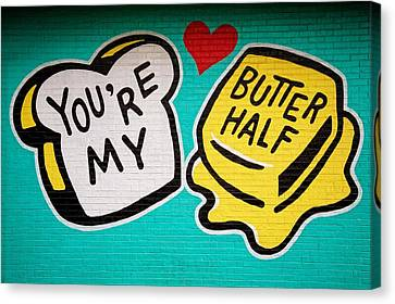 Butter Half Canvas Print
