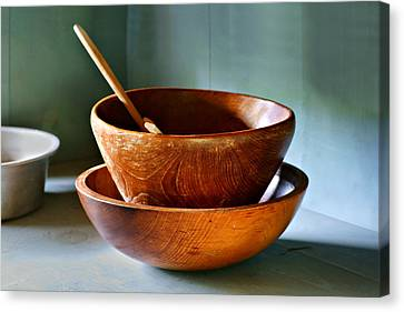 Butter Maker's Bowls Canvas Print by Nikolyn McDonald