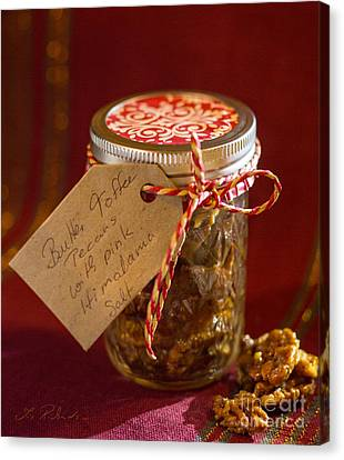 Butter Toffee Pecan Nuts With Himalania Salt Canvas Print by Iris Richardson
