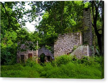 Buttercup Cottage Barn Ruin Canvas Print by Bill Cannon