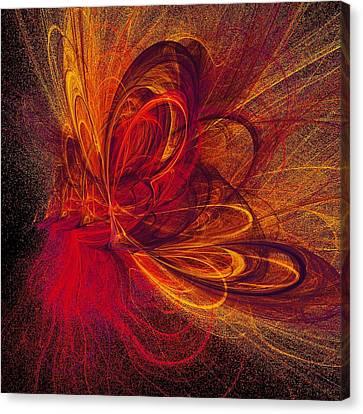 Butterfire Canvas Print by Sharon Lisa Clarke