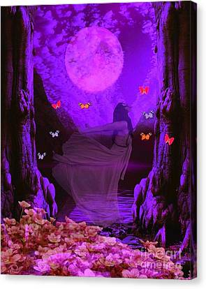 Butterflie Fantasy Scene Canvas Print