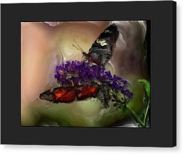 Butterflies At The Park Canvas Print