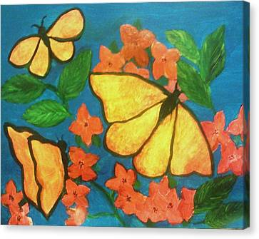 Butterflies Canvas Print by Christy Saunders Church