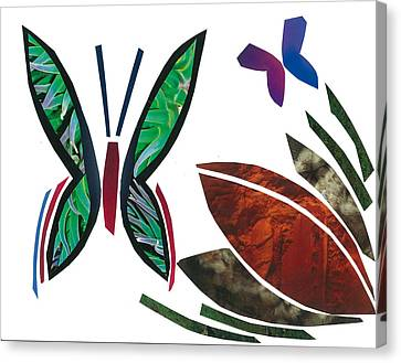 Invertebrates Canvas Print - Butterflies by Earl ContehMorgan