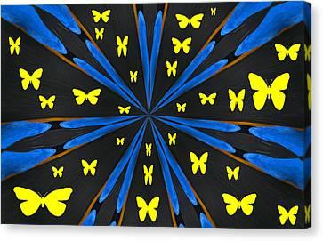 Butterflies Galore Canvas Print by Karol Livote