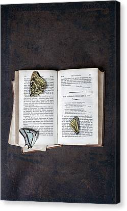 Butterflies On Book Canvas Print by Joana Kruse