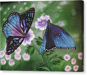 Canvas Print featuring the painting Butterfly #2 by Dianna Lewis