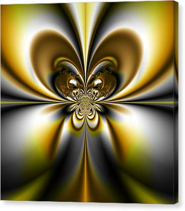 Butterfly - A Fractal Design Canvas Print by Gina Lee Manley