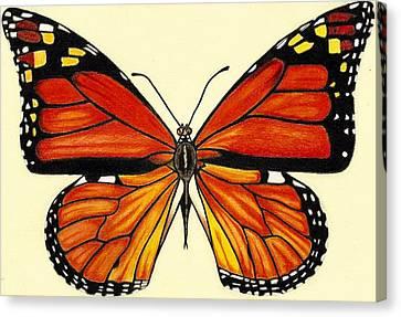 Butterfly Canvas Print by Agnieszka Walhof