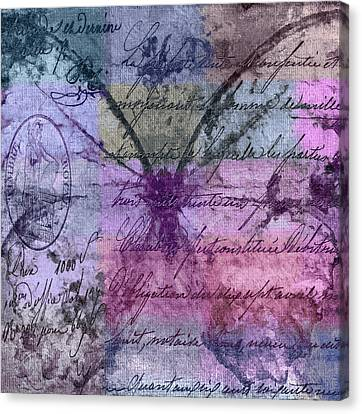 Butterfly Art - Ab25a Canvas Print by Variance Collections