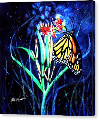 Butterfly At Work Canvas Print by Ruth Bodycott