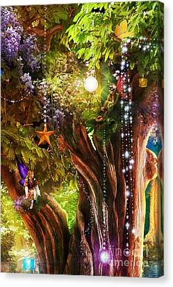 Butterfly Ball Tree Canvas Print