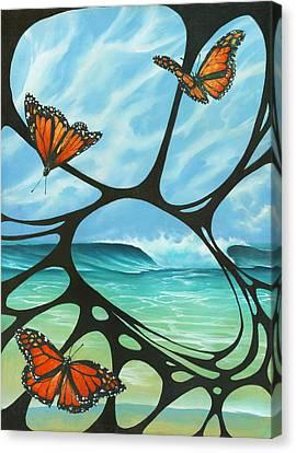 Butterfly Beach Canvas Print
