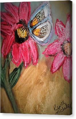 Butterfly Breakfast Canvas Print