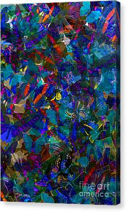 Butterfly Collage Blue Canvas Print by Robert Meanor