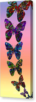 Canvas Print featuring the photograph Butterfly Collage IIII by Robert Meanor