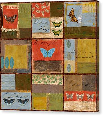 Butterfly Collage Canvas Print by Paul Brent