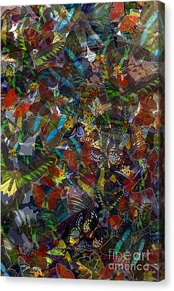 Canvas Print featuring the photograph Butterfly Collage by Robert Meanor
