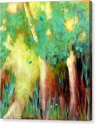 Canvas Print featuring the painting Butterfly Days by Katie Black