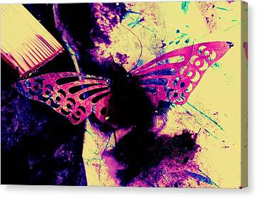 Canvas Print featuring the photograph Butterfly Disintegration  by Jessica Shelton