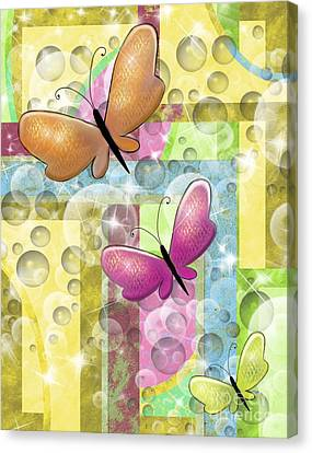 Butterfly Dreams Canvas Print by Karen Sheltrown