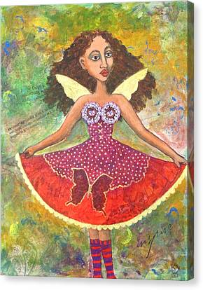 Butterfly Dress Canvas Print by Sharon Woodward