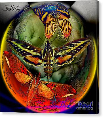 Butterfly Effect Blue Planet Canvas Print