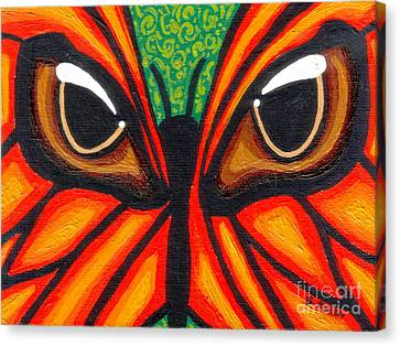 Butterfly Eyes Canvas Print by Genevieve Esson
