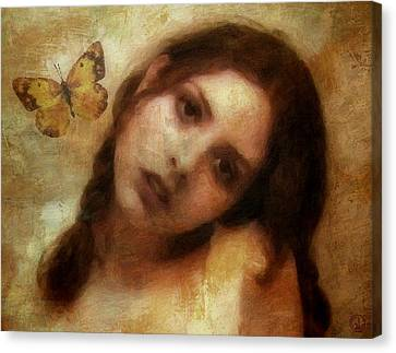 Melancholy Canvas Print - Butterfly Farewell by Gun Legler