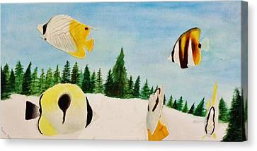 Butterfly Fish Canvas Print by Savanna Paine