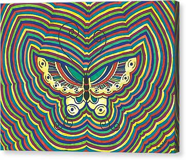 Canvas Print featuring the painting Butterfly Flutter by Susie Weber